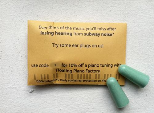Hearing Loss Campaign Musicians Piano Tuning Brooklyn NYC Subway