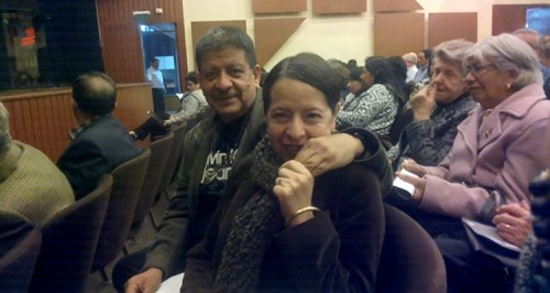 Jose and Roxana at the concert