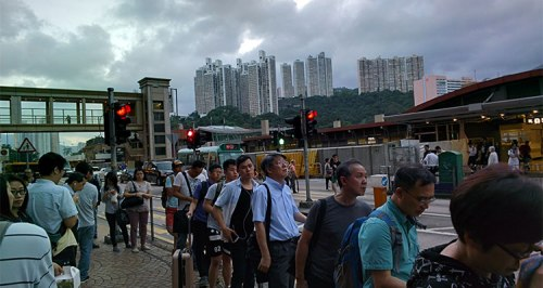 Crowds in Hong Kong
